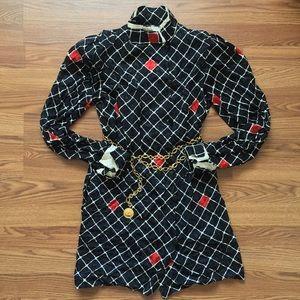 GALANOS x SAKS • Stunning Vintage Ruched Dress